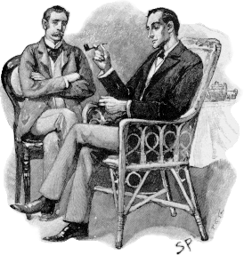An illustration for the story The Adventures of Sherlock Holmes by Sir Arthur Conan Doyle