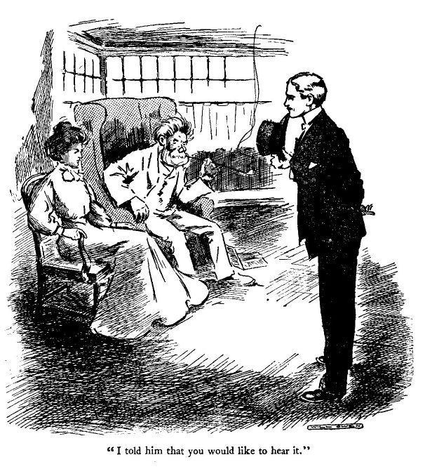 An illustration for the book Dialstone Lane by W.W. Jacobs