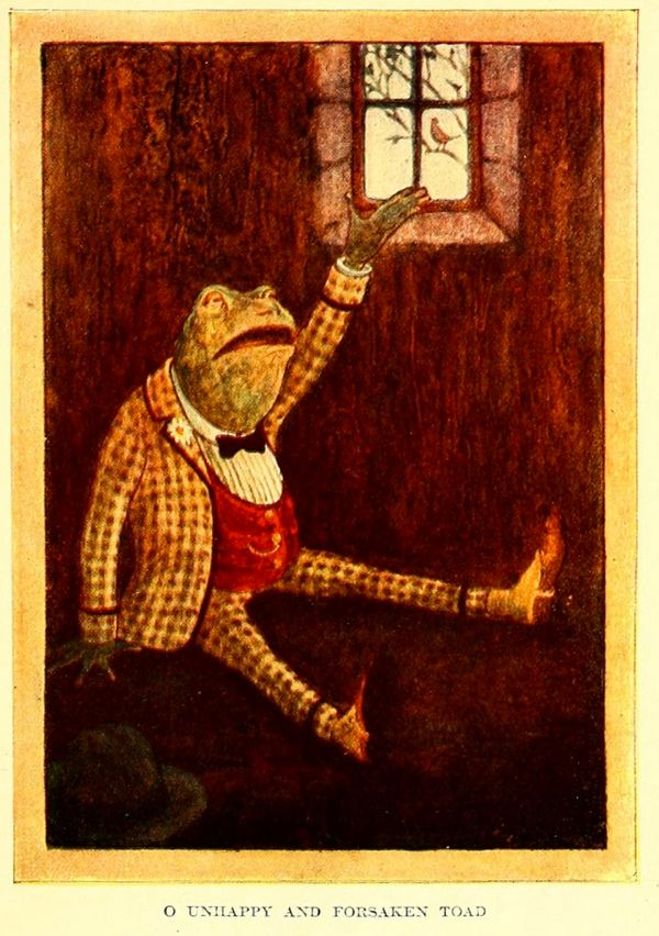 An illustration for The Wind in the Willows by Kenneth Grahame