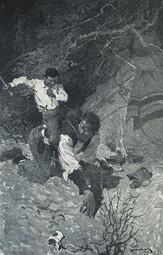 An illustration for the short story The Ransom of Red Chief by the author O. Henry