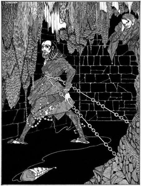 An illustration for the story The Cask of Amontillado by the author Edgar Allen Poe