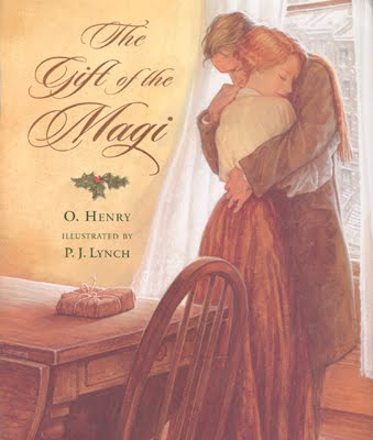 An illustration for the story The Gift of the Magi by the author O. Henry